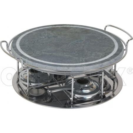 Grill de piedra redondo de 30 cm