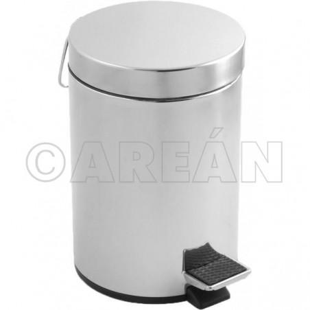 Cubo de basura en acero inoxidable con pedal 3 L