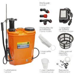 Sulfatadora pulverizador manual y a bateria