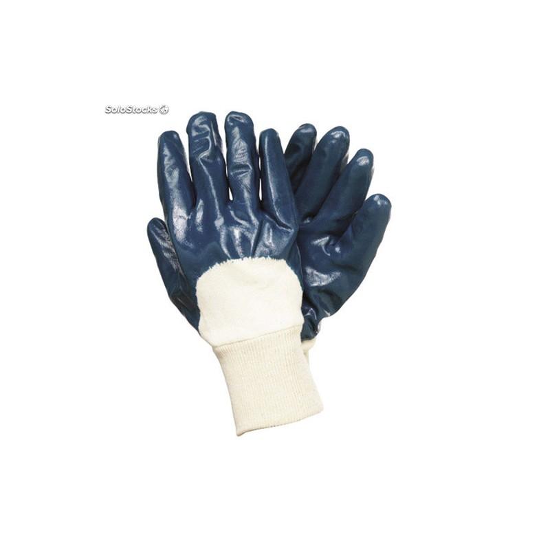 Guante palma impregnada nitrilo azul